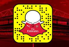 Snapchat: Arsenal de Inglaterra creó un entretenido perfil