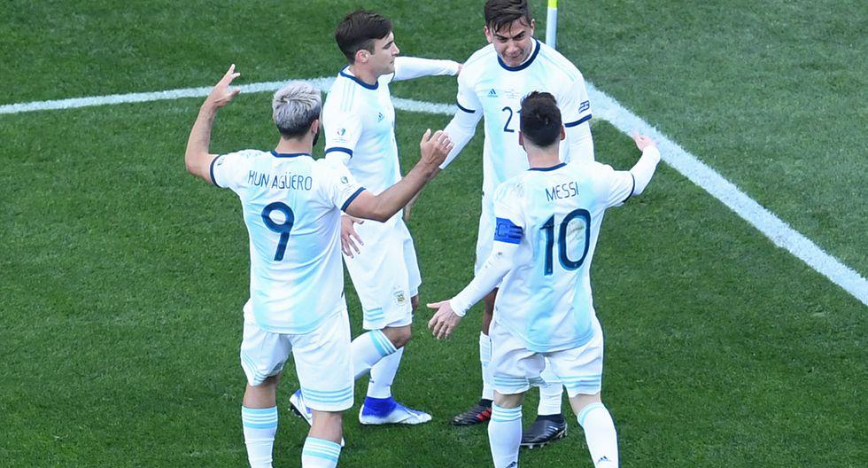 Argentina cerró la Copa América con un triunfo. (Foto: AFP)