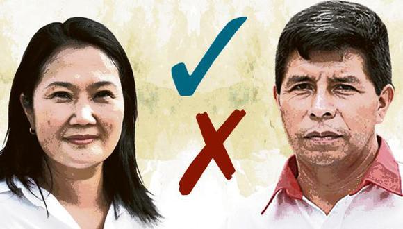 El Comercio verifica las mentiras y medias verdades del debate entre Pedro Castillo (Perú Libre) y Keiko Fujimori (Fuerza Popular).