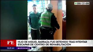 Hijo de Miguel Barraza fue detenido tras intentar escapar de centro de rehabilitación