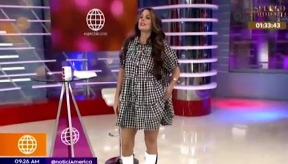 Rebeca Escribens baila 'No sé' y terminó mostrando más de la cuenta. (Foto: captura de video)