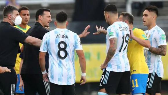 El duelo entre Argentina vs. Brasil por Eliminatorias Qatar 2022 quedó suspendido. (Foto: EFE)