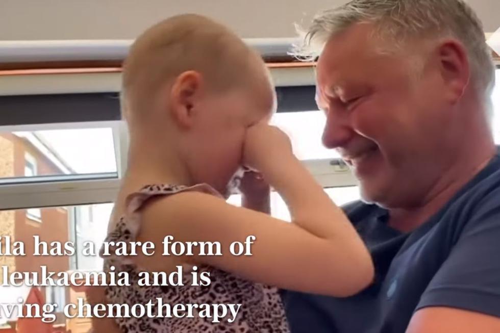 Niña con cáncer se reencuentra con padre que evitó contagiarle coronavirus