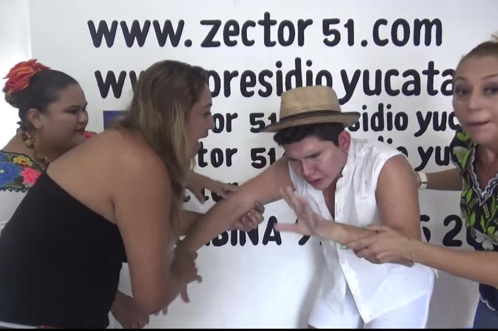 Hugo Lara se ahogó con chile habanero. (Video: YouTube)