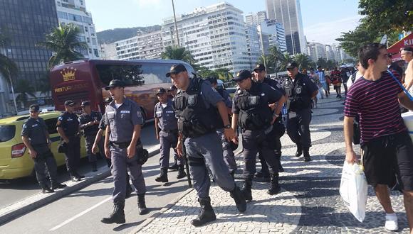 Holanda vs. Argentina: máxima seguridad en Fan Fest de Río