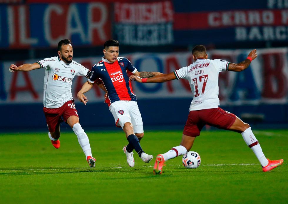 Cerro Porteño enfrentó a Fluminense por la ida de los octavos de final de la Copa Libertadores 2021