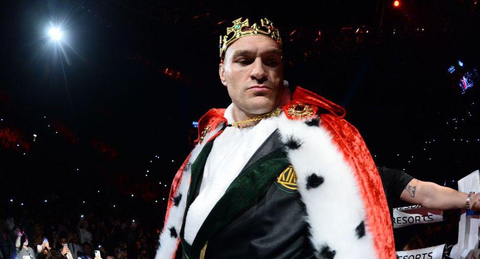 La majestuosa salida de Tyson Fury al Grand MGM de Las Vegas   Foto: Agencias