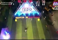EEG: Elías Montalvo sufre aparatosa caída de un juego de altura