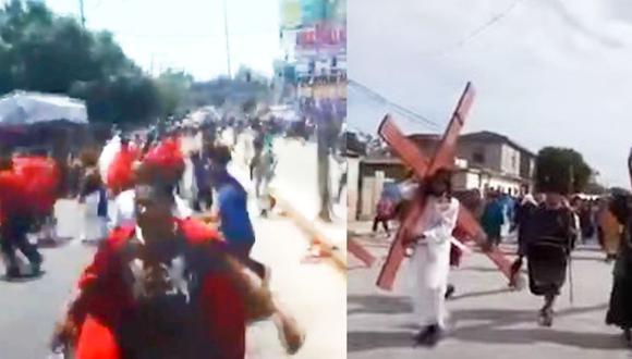 YouTube: Suspenden vía crucis por dos balaceras en México. (Foto: Capturas de YouTube)