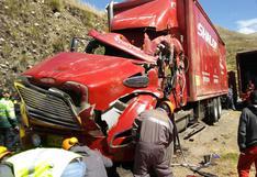 Junín: triple choque en la carretera Central dejó un muerto y seis heridos