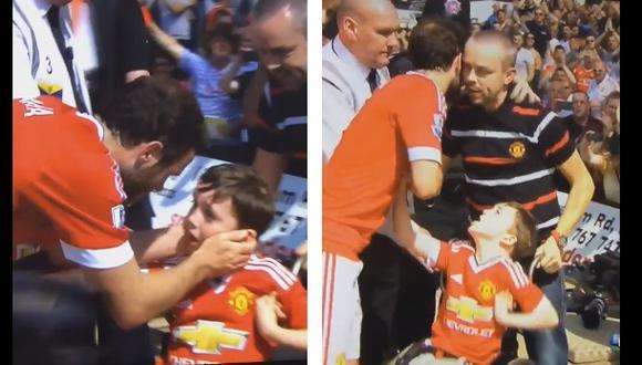 El hermoso gesto de Juan Mata con un niño con discapacidad