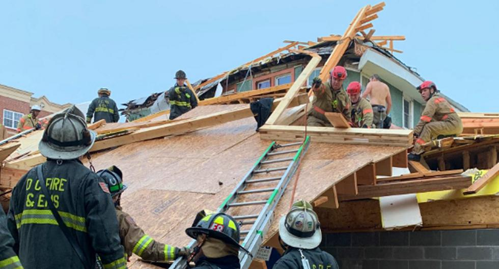 Washington: Five injured after a building under construction collapses