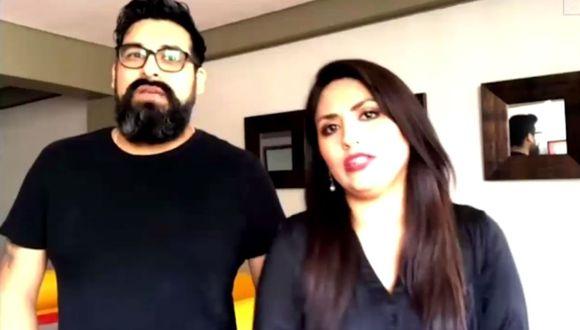 La cantante Nicole Pillman y su esposo Santiago señalaron cómo superaron el coronavirus. (Captura de pantalla / América TV).