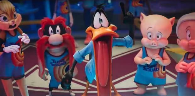 Image of the official trailer for Space Jam 2