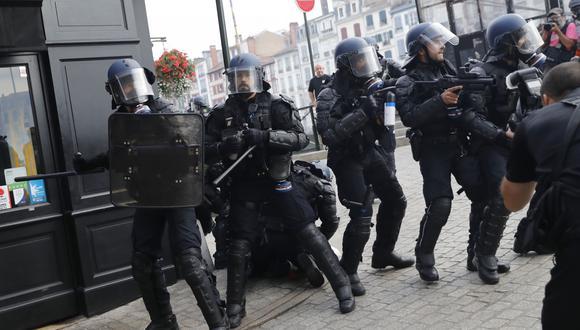 Cumbre del G7 en Biarritz, Francia: Detenidas 68 personas en protestas contra la cumbre. (AFP).