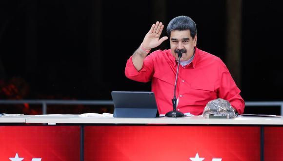 El presidente venezolano, Nicolás Maduro, en un acto del Partido Socialista Unido de Venezuela el lunes 24 de mayo del 2021. (Foto: EFE).