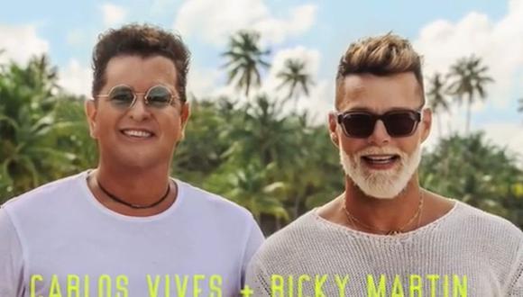 """Carlos Vives se unió a Ricky Martin para lanzar el tema """"Canción bonita"""". (Foto: Captura de video)"""
