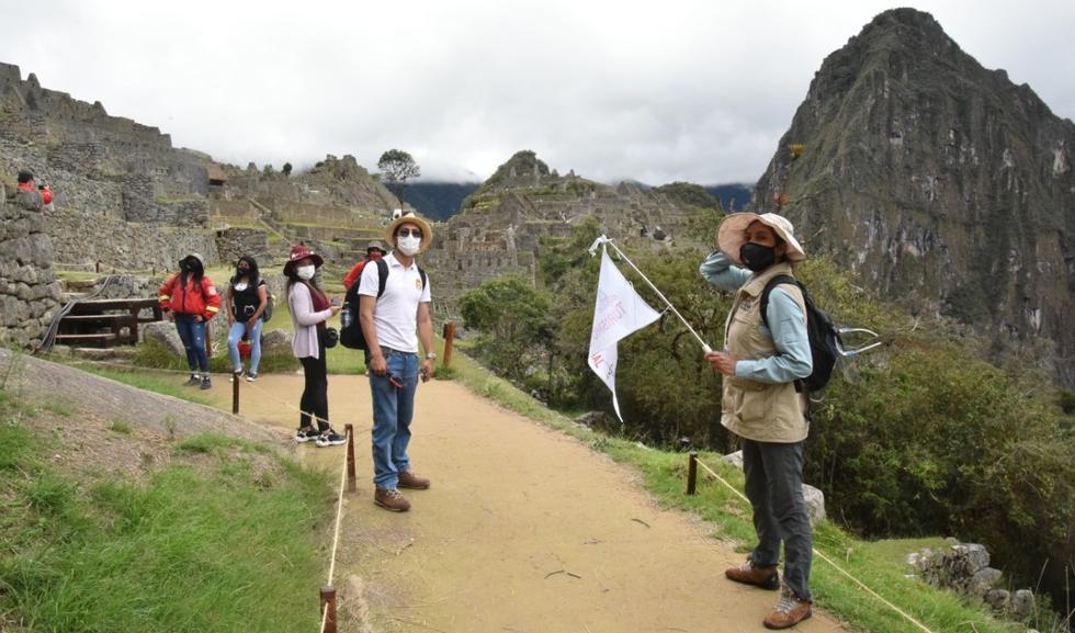 El aforo permitido para Machu Picchu es de 1,122 visitantes por día, que equivale al 50 % del total de ingresantes.
