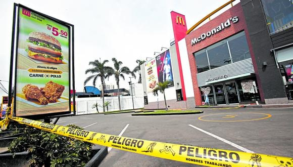 En diciembre de 2019, dos jóvenes trabajadores de McDonald's fallecieron en su local ubicado en el cruce de las avenidas La Marina y Universitaria. (Foto: César Grados   GEC)