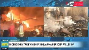 Chorrillos: anciana fallece de paro cardiaco tras incendio en su vivienda