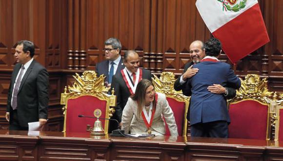 El partido aprista ha tomado el liderazgo en la estrategia parlamentaria para rechazar la iniciativa de adelanto de elecciones de Martín Vizcarra. (Foto: Alonso Chero)