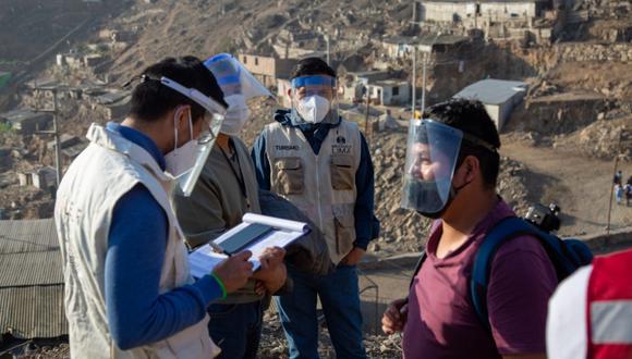 Los intervenidos lideraban una caminata que no cumplía con las medidas de bioseguridad necesarias ni respetar el distanciamiento social para evitar los contagios de COVID-19. (Foto: Municipalidad de Lima)
