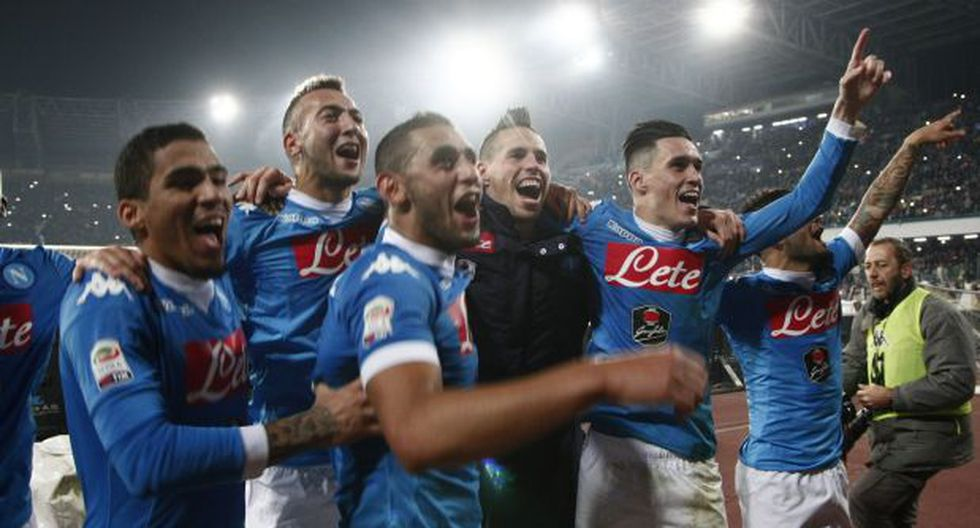 Los palos salvaron al Napoli: venció al Inter y es líder