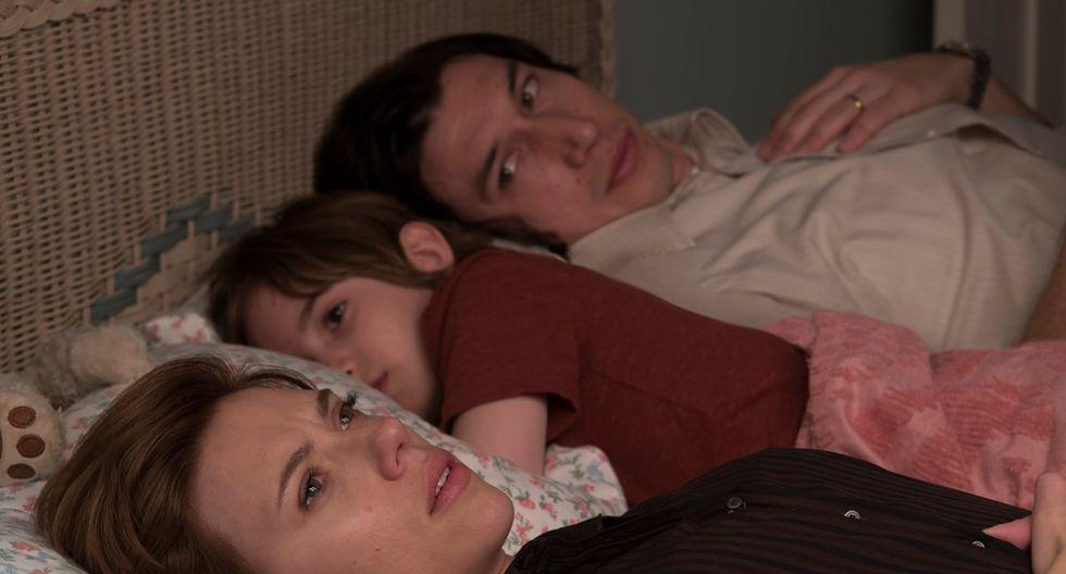 """Escena de """"Marriage Story"""", protagonizada por Scarlett Johansson y Adam Driver."""