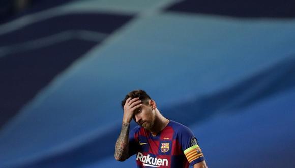 Los hinchas de Barcelona protestaron por la goleada sufrida contra Bayern. (Foto: EFE)