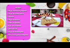 Receta de deliciosos wafles