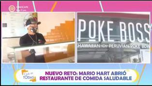 """Mario Hart presenta su restaurante de comida saludable: """"Me gusta atender a la gente"""""""