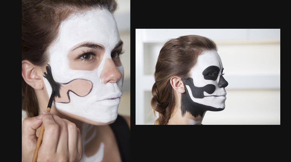 Paso a paso: Maquíllate como una calavera por Halloween - 4