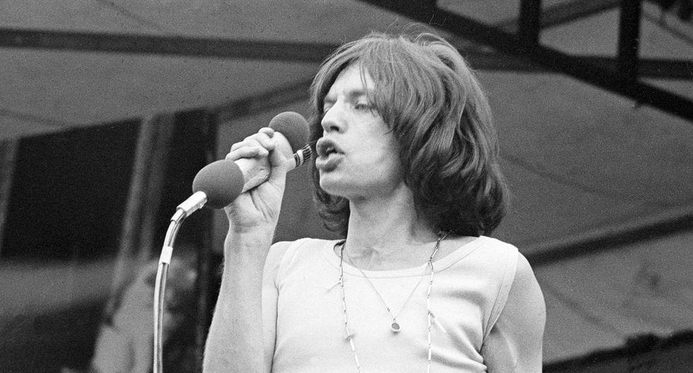 Mick Jagger en el legendario concierto en Hyde Park de 1969. (Foto: AP)