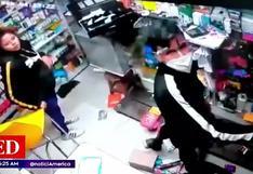 Comas: Tres delincuentes ingresan a una farmacia y se llevan más 3 mil soles en mercadería