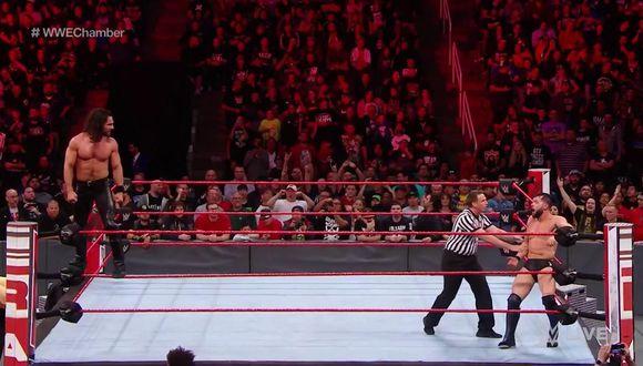 Entre Seth Rollins y Finn Bálor saldrá el último participante de WWE Elimination Chamber. (Foto: Twitter)