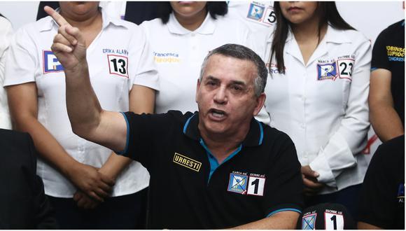 Daniel Urresti fue ministro del Interior y en las elecciones complementarias del 2020 postuló con el Nro 1 por el partido Podemos Perú (PP).