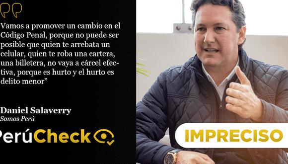 PerúCheck. La afirmación del candidato presidencial de Somos Perú fue sometida a fact checking.