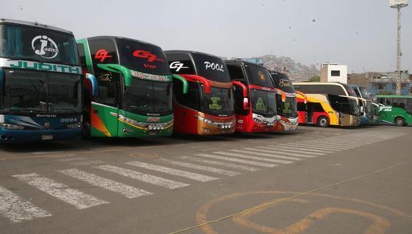 El transporte interprovincial quedará suspendido en Semana Santa. (Foto: Andina)