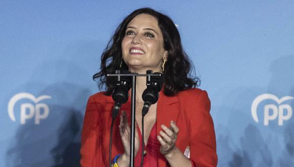 La presidenta de la Comunidad de Madrid y candidata a la reelección por el Partido Popular (PP), Isabel Díaz Ayuso. (AFP).