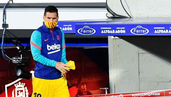 Lionel Messi es duda para la final de la Supercopa de España. (Foto: AFP)