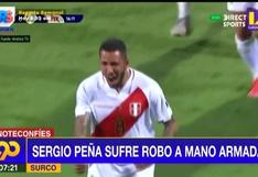Sergio Peña fue víctima de un robo a mano armada en Surco