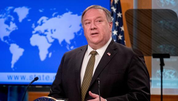 El Secretario de Estado Mike Pompeo durante una conferencia de prensa en el Departamento de Estado en Washington. (Foto: Archivo / Andrew Harnik / Pool/ REUTERS).