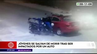 Carabayllo: Jóvenes salvan de morir tras ser impactados por un auto