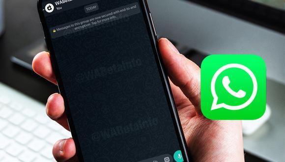 """¿Quieres tener el fondo de pantalla del """"modo oscuro"""" de WhatsApp? Conoce cómo conseguirlo y ahorrar batería. (Foto: WABeta Info)"""