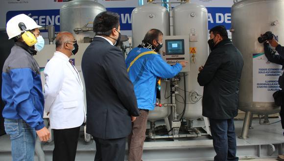 Esta moderna planta de oxígeno, con componentes de Bélgica y Suiza, puede producir hasta 696 metros cúbicos de oxígeno al día | Foto: Hospital Departamental de Huancavelica