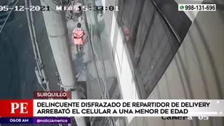 Surquillo: delincuente disfrazado de repartidor de delivery robó celular a menor