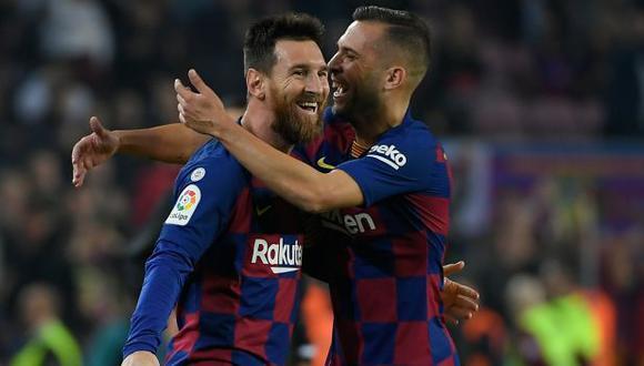 Jordi Alba se recuperó de una lesión y estará en el clásico Barcelona vs. Real Madrid. (Foto: AFP)