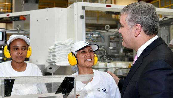 """El presidente de Colombia, Iván Duque Márquez, señaló que las empresas beneficiarias del subsidio a las nóminas """"no pueden despedir empleados"""". (Foto: Presidencia)"""