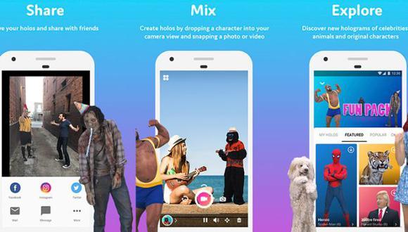 Con esta app podrás compartir divertidos hologramas en WhatsApp. (Foto: Holo-Hologram)