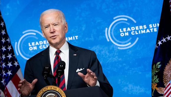 Cumbre del Clima: Joe Biden anuncia que Estados Unidos buscará la neutralidad de carbono para el 2050. (Foto: Brendan Smialowski / AFP).